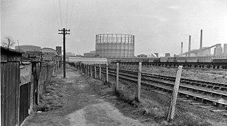 Beckton railway station - Site of Beckton railway station in 1962