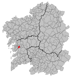 Situation of Barro within Galicia