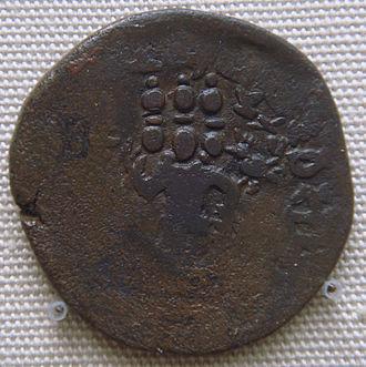 Yaudheya - Image: Six Headed Karttikeya Yaudheya Coin