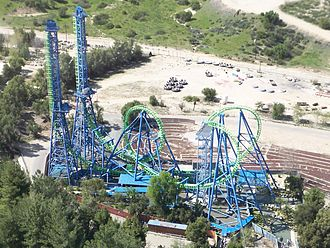 Vekoma - Image: Six Flags Magic Mountain Deja Vu