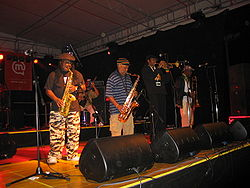 The Skatalites blåssektion 2007.