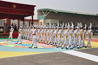 Indo-Tibetan Border Police - Ski Contingent of the ITBP during their 53rd Raising Day Parade, 2014