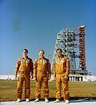 Skylab 4 crew at KSC Pad 39B (S73-36904).jpg