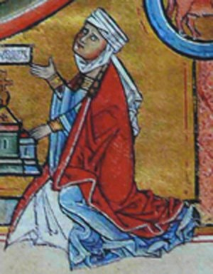 Sophia of Wittelsbach - Picture of Sophia in the Elisabeth psalter