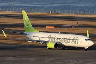 Solaseed Air - A Solaseed Air Boeing 737-800 at Haneda Airport, Tokyo (2012)