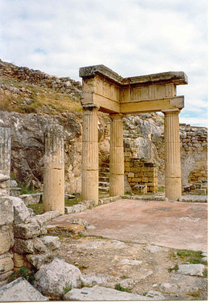 History of Sicily - Ruins of a temple at Solunto.