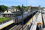 Southbound Northeast Regional at Kingston station, May 2017.JPG