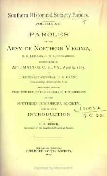 Southern Historical Society Papers volume 15.djvu