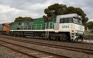 The Southern Spirit - Southern Spirit liveried NR class locomotive in December 2008