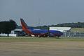 Southwest Airlines 737 at JAN Sept 2010.jpg