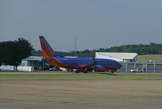 Jackson–Medgar Wiley Evers International Airport - Southwest 737 at Jackson, Sept 2010