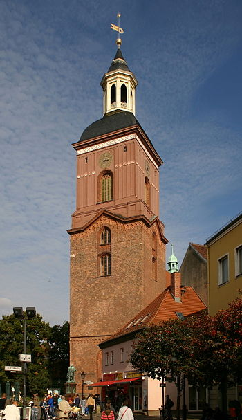 English: Church tower of St. Nicholas in Berli...