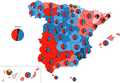 Spanish provinces general election 2008.png