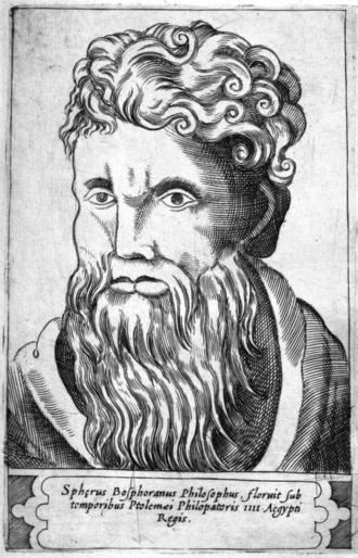 Sphaerus - Engraving by Girolamo Olgiati, 1580