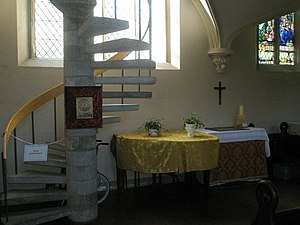 Spiral staircase within All Saints, Portsea
