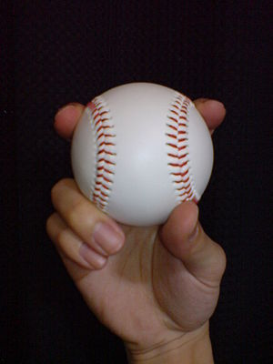 Split-finger fastball - Image: Split finger fastball 1