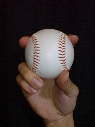 Split-finger fastball - Image: Split finger fastball 1