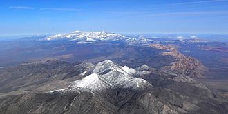Spring Mountains - Image: Spring Mountains aerial from south