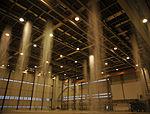 Sprinklers come alive in hangar five 150219-F-FN535-024.jpg