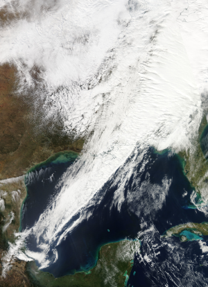 Squall line - Image: Squall line across the eastern US and Gulf of Mexico 30 January 2013