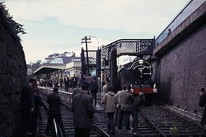 The St. Andrews Railway - St. Andrews Station with Railtour in 1965