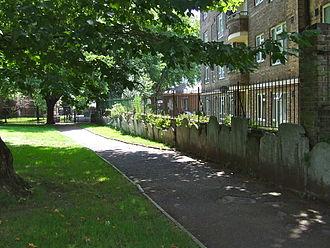 St Mary on Paddington Green Church - Gravestones in St Mary's Gardens