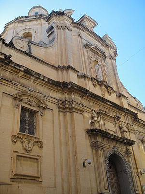 Church of St Nicholas, Valletta - Façade of the Church of St. Nicholas