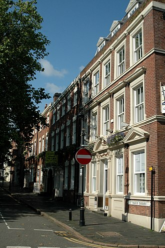 St Paul's Square - Image: St Pauls Square houses, Jewellery Quarter, Birmingham