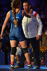 Staff Sgt. Aaron Sieracki coaches Capt. Leigh Jaynes-Provisor to World bronze (21464362170).jpg
