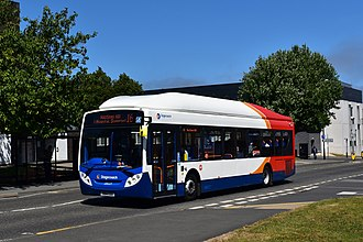 Stagecoach North East - Alexander Enviro 300 bodied Scania Gas Bus in Sunderland in 2018.