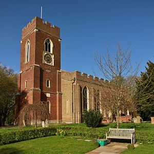 Staines-upon-Thames - St Mary's parish church, which was rebuilt in 1828