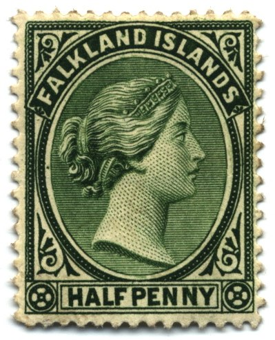 Stamp Falkland Islands 1891 0.5p