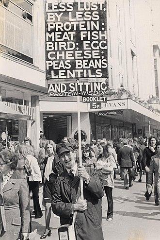 Oxford Street - Stanley Green advertising on Oxford Street in 1974