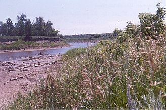 Knife River Indian Villages National Historic Site - The Knife River just south of the main village complex