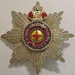 Звезда с короной к ордену Св. Анны