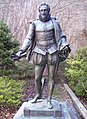 Statue of Cervantes behind The Row.jpg