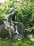 Statue of Walther von der Vogelweide in Duchcov2.JPG
