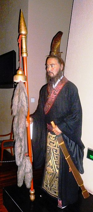 Zhang Qian - Statue of Zhang Qian in Shaanxi History Museum, Xi'an