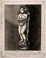Statuette of a naked boy standing on a corbel, commemorating Wellcome V0013143.jpg
