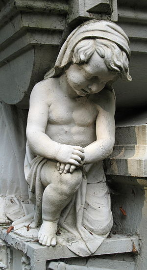 Bruges (Belgium): detail of a tomb at the Steenbrugge Cemetery