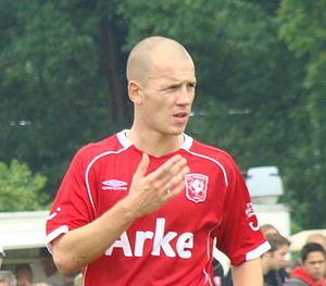 Stein Huysegems - Huysegems playing for Twente in 2008
