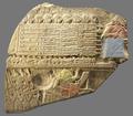 Stele degli avvoltoi, frammento con evidenziati particolari.png