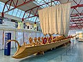 Stem of a reconstructed Navis lusoria Roman ship in the Museum of Ancient Seafaring, Mainz, Germany (48987718788).jpg