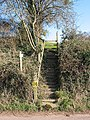 Steps on the footpath - geograph.org.uk - 694310.jpg