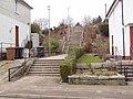 Steps up to bridge over Old Deeside Line - geograph.org.uk - 1738292.jpg