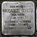 Stolperstein Aschaffenburger Str 24 (Wilmd) Margarete Scherk.jpg