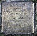 Stolperstein Essener Str 20 (Moabi) Margarete Jacob.jpg