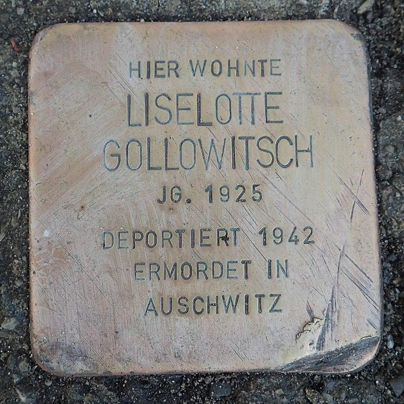 Stolperstein Leutkirch Karlstraße 12 Liselotte Gollowitsch