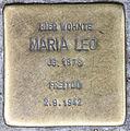 Stolperstein Pallasstr 12 (Schöb) Maria Leo.jpg