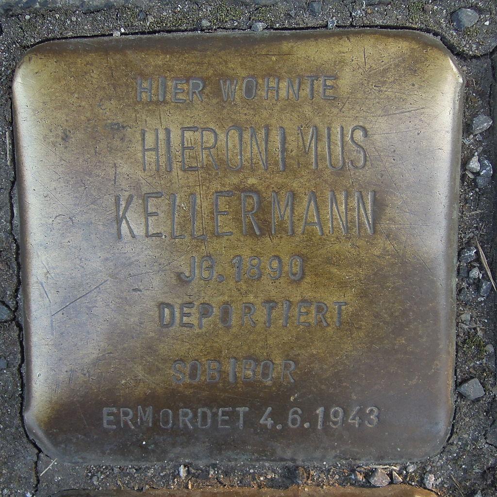 Stolperstein Ratingen Hans-Böckler-Straße 1 Hieronimus Kellermann